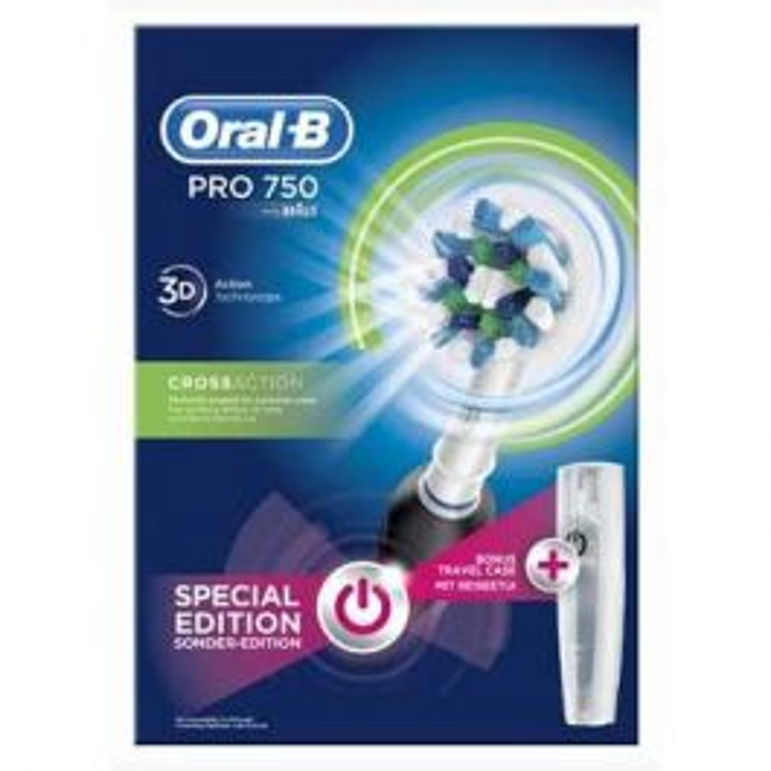 PRO 750 CrossAction Adulto Cepillo dental oscilante Negro 4bbfb4ae0d53