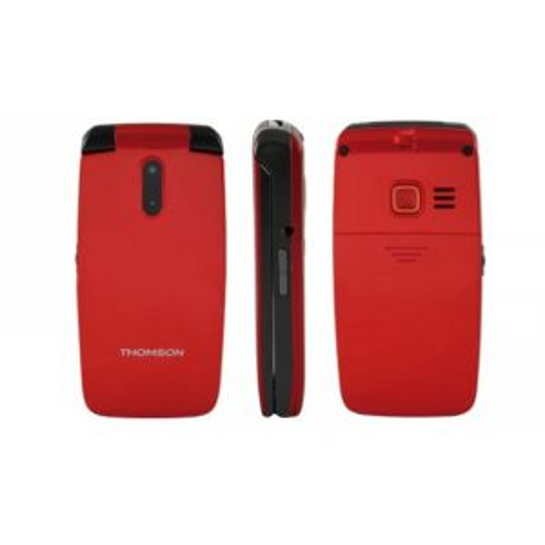 Teléfono Thomson T. MOVIL SEREA 62 ROJO TECLAS GRANDES