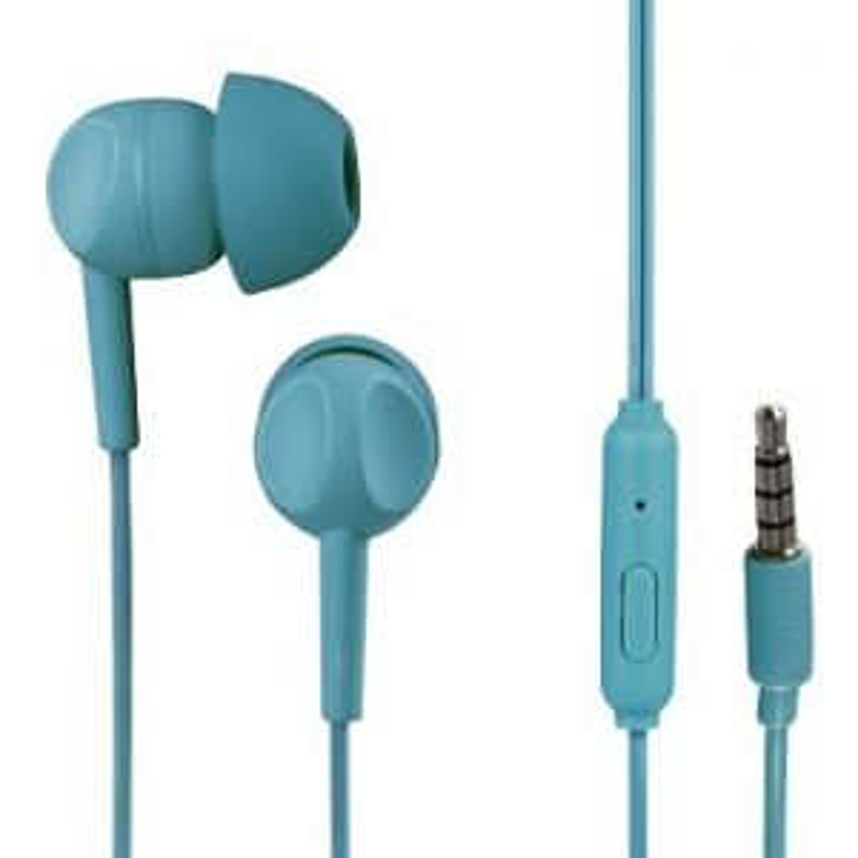 Auriculares Hama BOTON+MIC THOMSON 132483 EAR 3005 TURQ