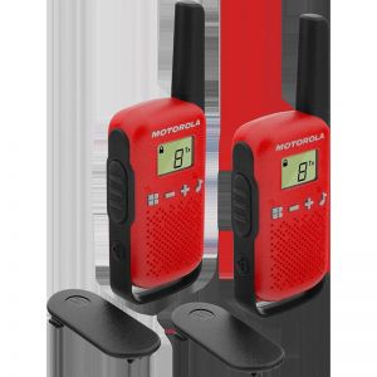 Walkie Talkie Motorola TALKABOUT T42 two-way radios 16 canales Negro, Rojo