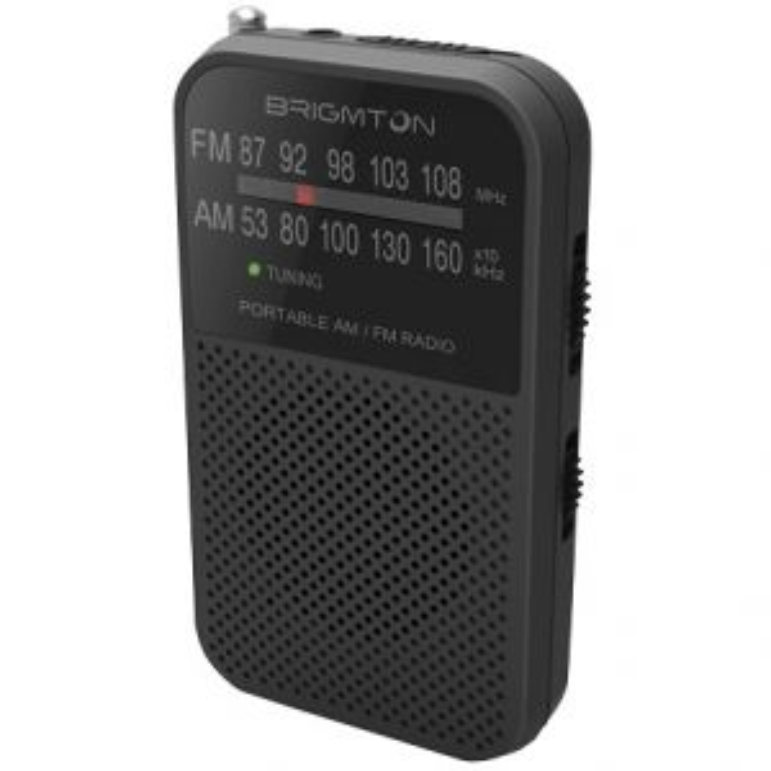Brigmton BT-344-N radio Portátil Analógica Negro