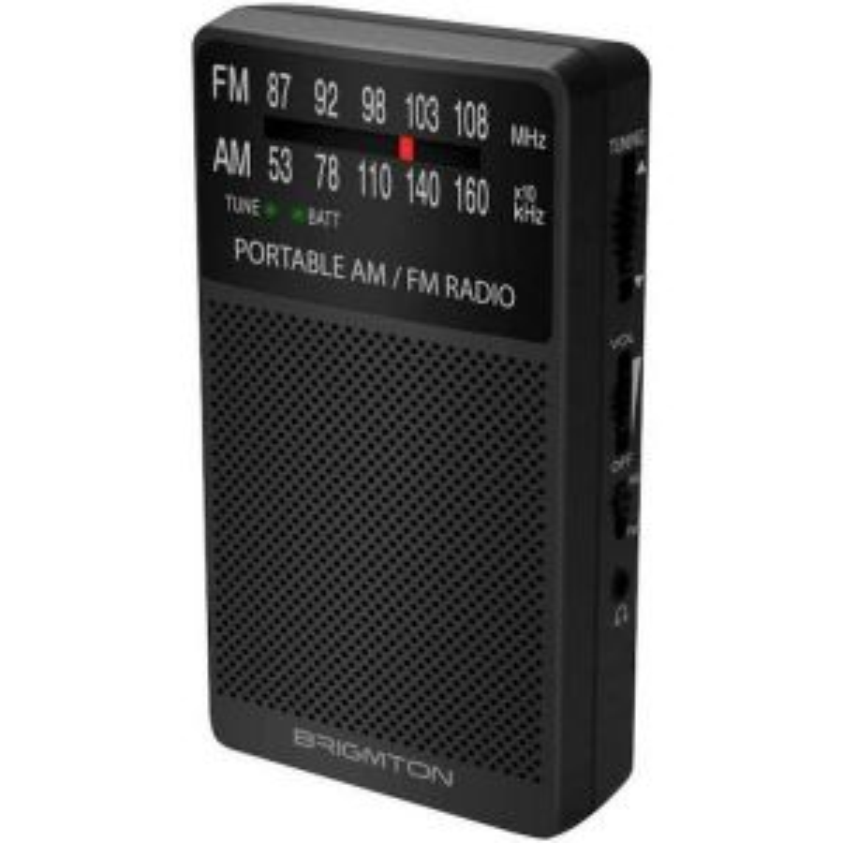 Brigmton BT-346-N radio Portátil Analógica Negro