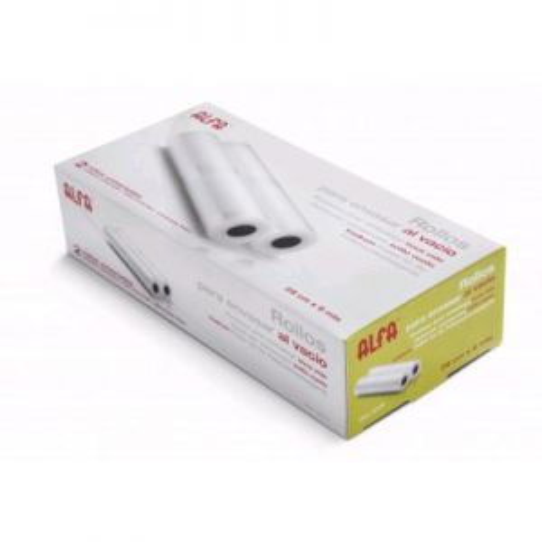Envasadora al vacío Alfa hogar PACK 2 ROLLOS 28CM ENVASAR ALFA (6 METROS)