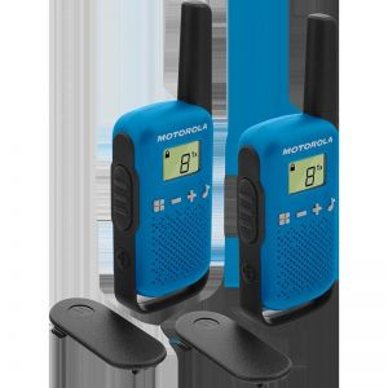 Walkie Talkie Motorola TALKABOUT T42 two-way radios 16 canales Negro, Azul