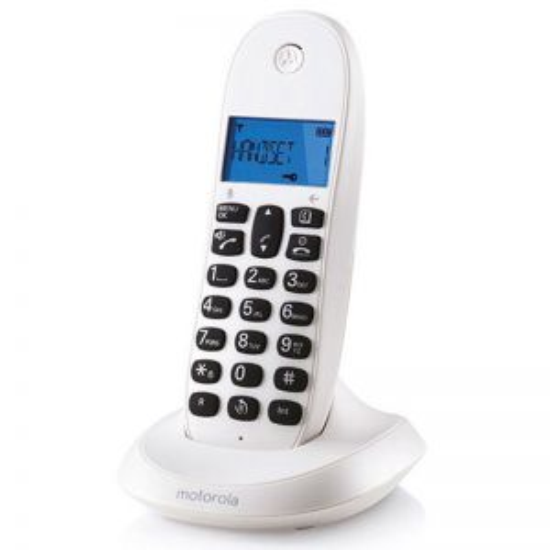 Teléfono Gigaset MOTOROLA C1001 BLANCO SINGLE