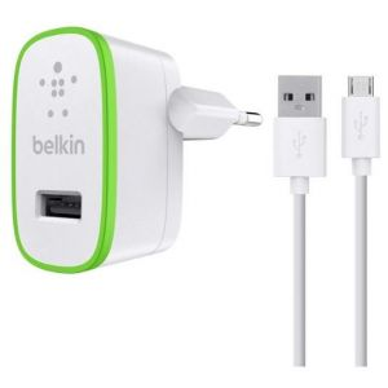 Cargador Belkin F8M886VF04-WHT de dispositivo móvil Verde, Blanco Interior