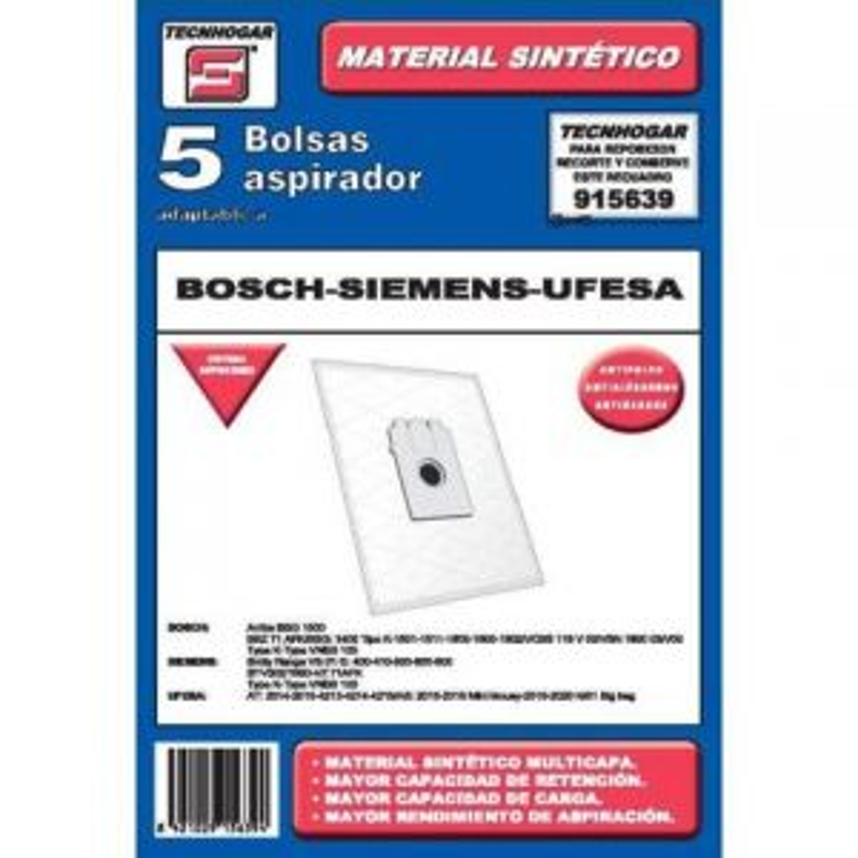 Tecnhogar BOLSA ASP. SIEMENS 915639 SINTETICA