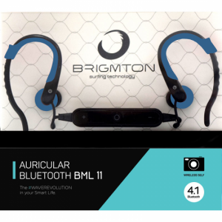 Auriculares Brigmton BML-11-A BLUETOOTH AZUL DEPOR