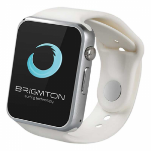 Brigmton RELOJ SMART BWATCH-BT4B BLANCO TELEFONO