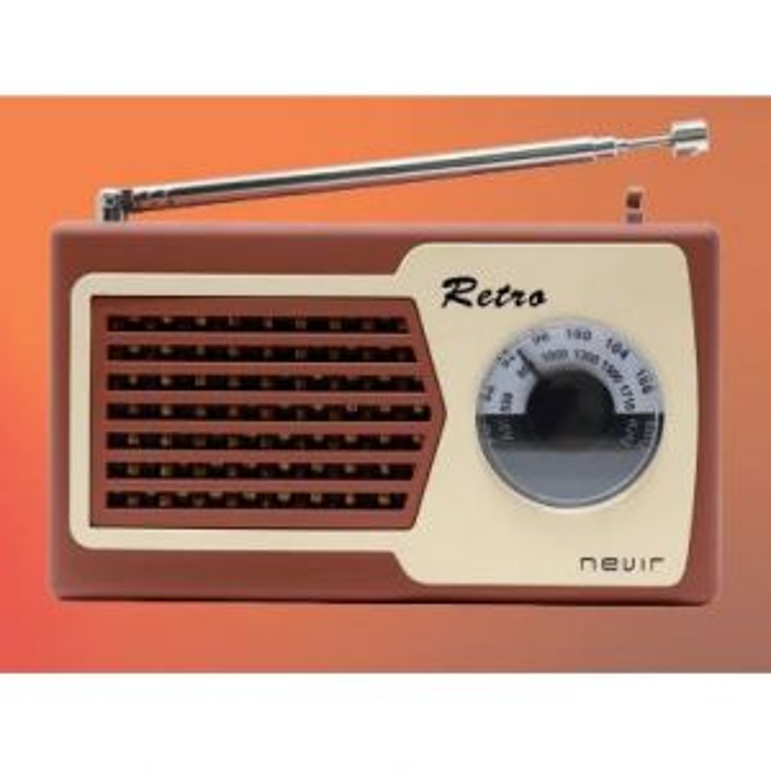 Nevir RADIO NVR-200 RETRO FM/AM MARRON