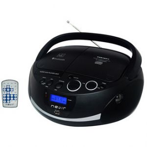 Reproductor portátil Nevir RADIO CD NVR-480UB NEGRO BLUETOOTH MP3 USB