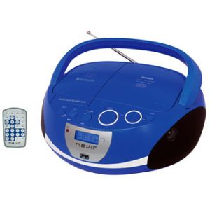 Reproductor portátil Nevir RADIO CD NVR-480UB AZUL BLUETOOTH MP3 USB