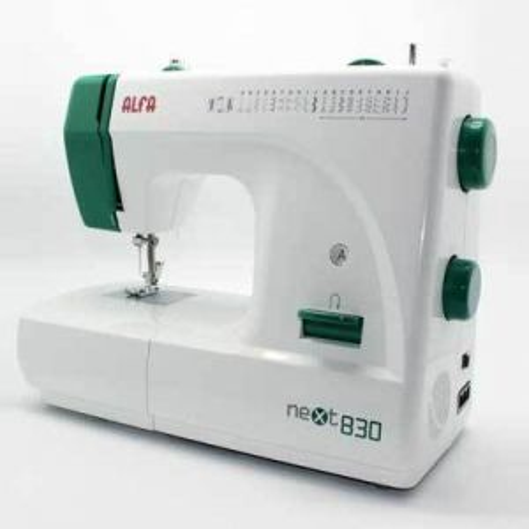Máquina de coser Alfa NEXT830 Doméstica. Brazo Libr